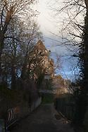 Provins Cesar tower, in the middle age city , France  /  provins la tour cesar