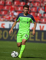 MAINZ, GERMANY - Sunday, August 7, 2016: Liverpool's Cameron Brannagan in action against FSV Mainz 05 during a pre-season friendly match at the Opel Arena. (Pic by David Rawcliffe/Propaganda)