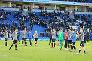 Coventry City players applaud their fans during the The FA Cup match between Brighton and Hove Albion and Coventry City at the American Express Community Stadium, Brighton and Hove, England on 17 February 2018. Picture by Phil Duncan.