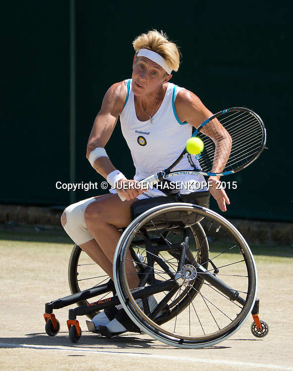 Sabine Ellerbrock (GER)<br /> <br /> Tennis - Wimbledon 2015 - Grand Slam ITF / ATP / WTA -  AELTC - London -  - Great Britain  - 10 July 2015.