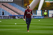Marko Arnautovic of West Ham United (7) walks out on the pitch after arriving at the ground before the Premier League match between Huddersfield Town and West Ham United at the John Smiths Stadium, Huddersfield, England on 10 November 2018.