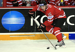 Jonathan Toews of Canada at play-off round quarterfinals ice-hockey game Norway vs Canada at IIHF WC 2008 in Halifax,  on May 14, 2008 in Metro Center, Halifax, Nova Scotia,Canada. (Photo by Vid Ponikvar / Sportal Images)