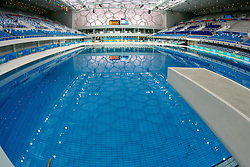 BEIJING, CHINA - Tuesday, January 29, 2008: A view of the completed National Aquatics Center, also known as the Water Cube. The venue, built for the Beijing Olympics, will host its first event, the Good Luck Beijing Swimming China Open from January 31 to February 5. (Photo by Osports/Propaganda)