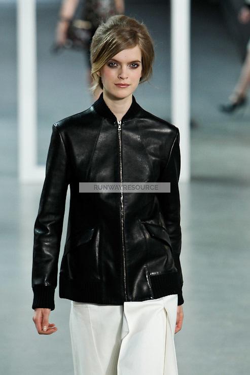 Mirte Maas walks down runway for F2012 Derek Lam's collection in Mercedes Benz fashion week in New York on Feb 10, 2012 NYC