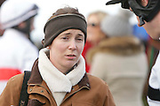 Ladbrokes Ireland Boyne Hurdle at Navan Race Course, 14th February 2016<br /> Trainer Gillian Callaghan pictured in the Parade Ring at Navan<br /> Photo: David Mullen / www.quirke.ie ©John Quirke Photography, Unit 17, Blackcastle Shopping Cte. Navan. Co. Meath. 046-9079044 / 087-2579454.