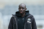Mohamed Diame (#10) of Newcastle United arrives ahead of the Premier League match between Newcastle United and Swansea City at St. James's Park, Newcastle, England on 13 January 2018. Photo by Craig Doyle.