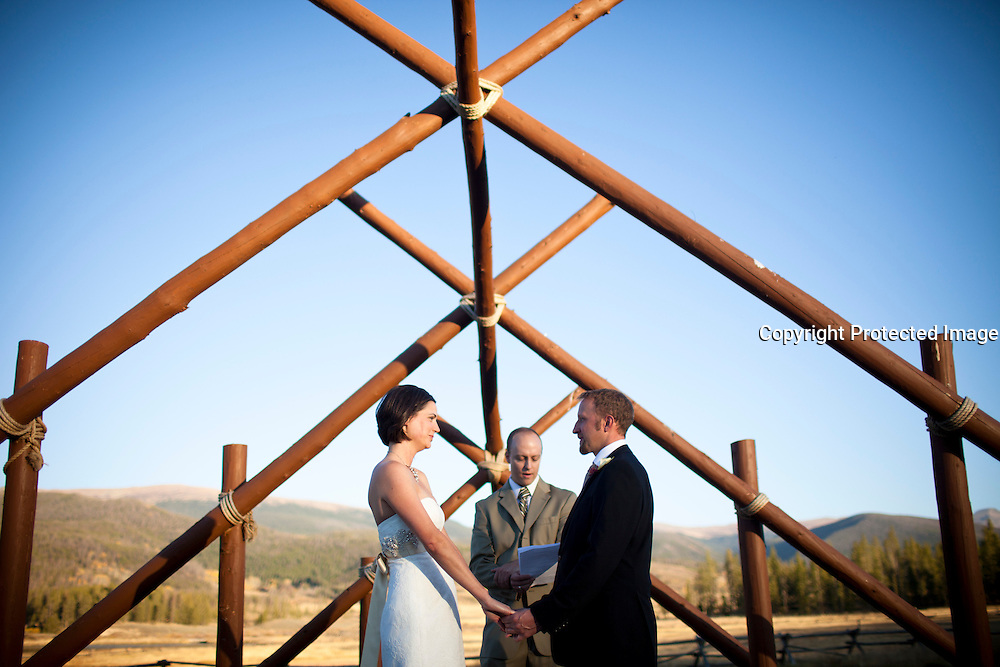 SHOT 9/30/10 7:00:05 PM - Marc Piscotty and Margaret Ebeling wedding week at Devil's Thumb Ranch in Tabernash, Co..(Photo by Trevor Brown / © 2010)