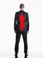 Businessman with Arrow on Back