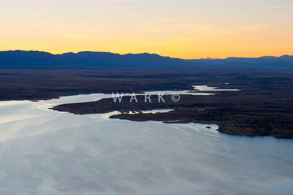 Lake Pueblo at sunset. Oct 2012
