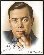 John Boynton Priestley (1894-1984) English novelist, playwright, writer and broadcaster. Card published 1927.