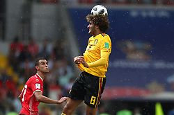 June 23, 2018 - Moscou, Rússia - MOSCOU, MO - 23.06.2018: BÉLGICA Y TÚNEZ - Ellyes SKHIRI of Tunisia and Marouane FELLAINI of Belgium during the match between Belgium and Tunisia valid for the 2018 World Cup held at the Otkrytie Arena (Spartak) in Moscow, Russia. (Credit Image: © Rodolfo Buhrer/Fotoarena via ZUMA Press)