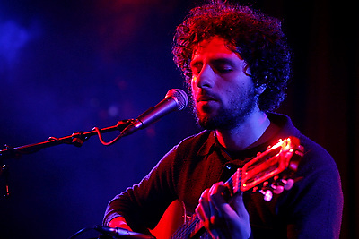 Jose Gonzalez performing at The Highline Ballroom on March 11, 2008.