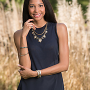 Model showcases Premiere Designs jewelry. On location lifestyle photography by Dallas commercial photographer William Morton of Morton Visuals.