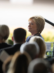 Hillary Clinton attends the funeral of former U.S. First Lady Nancy Reagan at the Ronald Reagan Presidential Library in Simi Valley, California, March 11, 2016. Nancy Reagan died of heart failure last Sunday at the age of 94. EXPA Pictures © 2016, PhotoCredit: EXPA/ Photoshot/ Yang Lei<br /> <br /> *****ATTENTION - for AUT, SLO, CRO, SRB, BIH, MAZ, SUI only*****