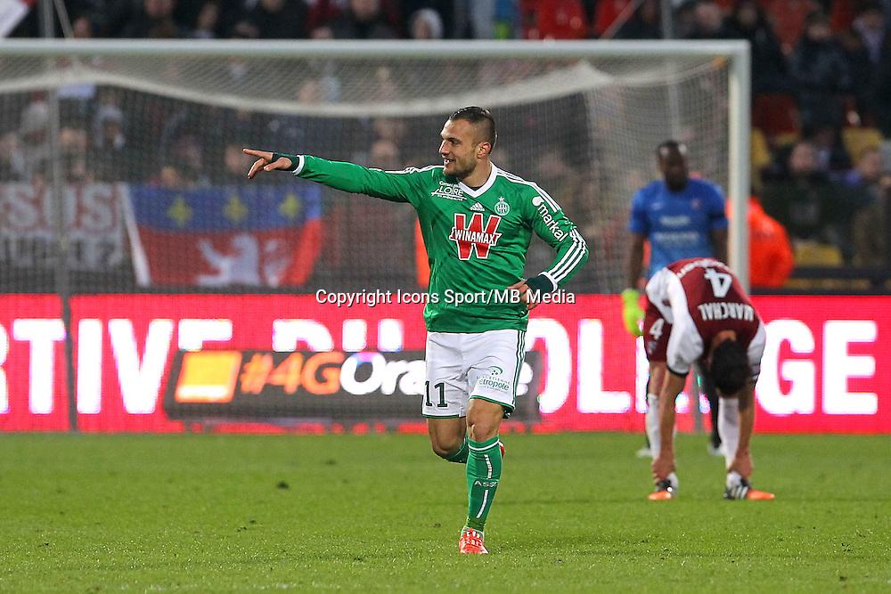 Joie Saint Etienne - Yohan MOLLO - 14.03.2015 - Metz / Saint Etienne - 29e journee Ligue 1<br /> Photo : Fred Marvaux / Icon Sport