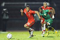 Fotball<br /> Senegal v Marokko<br /> Foto: Dppi/Digitalsport<br /> NORWAY ONLY<br /> <br /> FOOTBALL - FRIENDLY GAME 2008 - SENEGAL v MOROCCO - 21/11/2007 - JAMAL ALIOUI (MOR) / HENRI CAMARA (SEN)