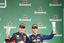 November 17, 2019, Sao Paulo, Brazil: Motorsports: FIA Formula One World Championship 2019, Grand Prix of Brazil, .#33 Max Verstappen (NLD, Aston Martin Red Bull Racing),  #10 Pierre Gasly (FRA, Red Bull Toro Rosso Honda) (Credit Image: © Hoch Zwei via ZUMA Wire)