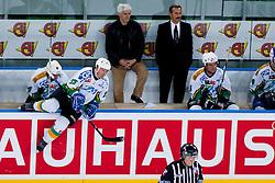 Olimpija bench during ice-hockey friendly match between legends of HDD Tilia Olimpija and HK Acroni Jesenice, on April 14, 2012 at SRC Stozice, Ljubljana, Slovenia. (Photo By Matic Klansek Velej / Sportida.com)