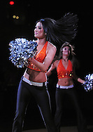 Nov. 5 2010; Phoenix, AZ, USA; Phoenix Suns dancer performs during a game against the Memphis Grizzlies at the US Airways Center. The Suns defeated the Memphis Grizzlies in double over time 123 - 118.  Mandatory Credit: Jennifer Stewart-US PRESSWIRE..