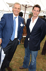 Left to right, MARK SHAND and the HON.JAMES TOLLEMACHE at the 2005 Cartier International Polo between England & Australia held at Guards Polo Club, Smith's Lawn, Windsor Great Park, Berkshire on 24th July 2005.<br />
