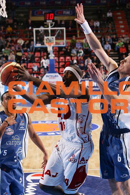 DESCRIZIONE : Forli Lega A1 2005-06 Coppa Italia Final Eight Tim Cup Carpisa Napoli Armani Jeans Milano <br /> GIOCATORE : Grant <br /> SQUADRA : Armani Jeans Milano <br /> EVENTO : Campionato Lega A1 2005-2006 Coppa Italia Final Eight Tim Cup Quarti Finale <br /> GARA : Carpisa Napoli Armani Jeans Milano <br /> DATA : 17/02/2006 <br /> CATEGORIA : Tiro <br /> SPORT : Pallacanestro <br /> AUTORE : Agenzia Ciamillo-Castoria/S.Silvestri <br /> Galleria : Coppa Italia 2005-2006 <br /> Fotonotizia : Forli Campionato Italiano Lega A1 2005-2006 Coppa Italia Final Eight Tim Cup Quarti Finale Carpisa Napoli Armani Jeans Milano <br /> Predefinita :