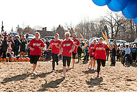 Salvation Army's annual Turkey Plunge at Opechee  November 19, 2011.