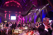 The dinner, Save the Children's Festival of Trees Gala dinner. Natural History Museum. London. 4 December 2007. -DO NOT ARCHIVE-© Copyright Photograph by Dafydd Jones. 248 Clapham Rd. London SW9 0PZ. Tel 0207 820 0771. www.dafjones.com.