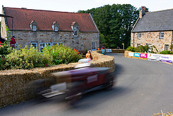 Boness Revival hillclimb motorsport event in Boness, Scotland, UK. The 2019 Bo'ness Revival Classic and Hillclimb, Scotland's first purpose-built motorsport venue, it marked 60 years since double Formula 1 World Champion Jim Clark competed here.  It took place Saturday 31 August and Sunday 1 September 2019. Courtyard part of track