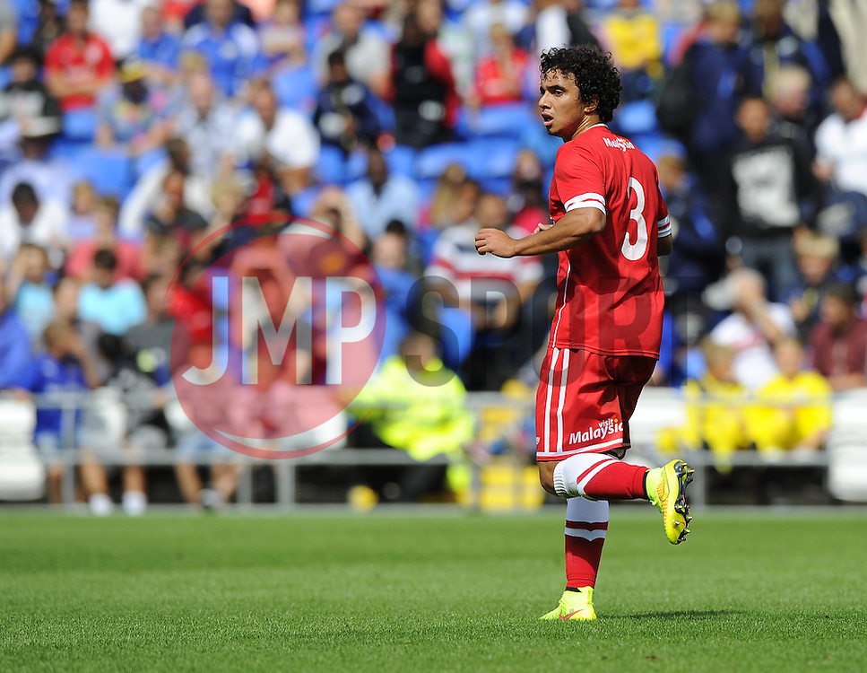Cardiff City's Fabio Da Silva  - Photo mandatory by-line: Joe Meredith/JMP - Mobile: 07966 386802 02/08/2014 - SPORT - FOOTBALL - Cardiff - Cardiff City Stadium - Cardiff City v VfL Wolfsburg - Pre-Season Friendly