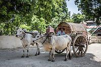 Local taxi in Mingun, near Mandalay, Burma