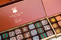 """24 October, 2008. New York, NY. A box of bon bons made by Eric Girerd, owner of the boutique """"L'atelier du chocolat"""".<br /> <br /> ©2008 Gianni Cipriano for The New York Times<br /> cell. +1 646 465 2168 (USA)<br /> cell. +1 328 567 7923 (Italy)<br /> gianni@giannicipriano.com<br /> www.giannicipriano.com"""
