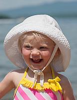 A day at the beach with Miss Ayla.   ©2104 Karen Bobotas Photographer