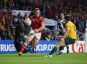 Wales George North attacking the Australian defence during the Rugby World CupPool A match between Australia and Wales at Twickenham, Richmond, United Kingdom on 10 October 2015. Photo by Matthew Redman.