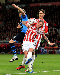 Glenn Whelan of Stoke City clears the ball - Mandatory by-line: Matt McNulty/JMP - 18/04/2016 - FOOTBALL - Britannia Stadium - Stoke, England - Stoke City v Tottenham Hotspur - Barclays Premier League