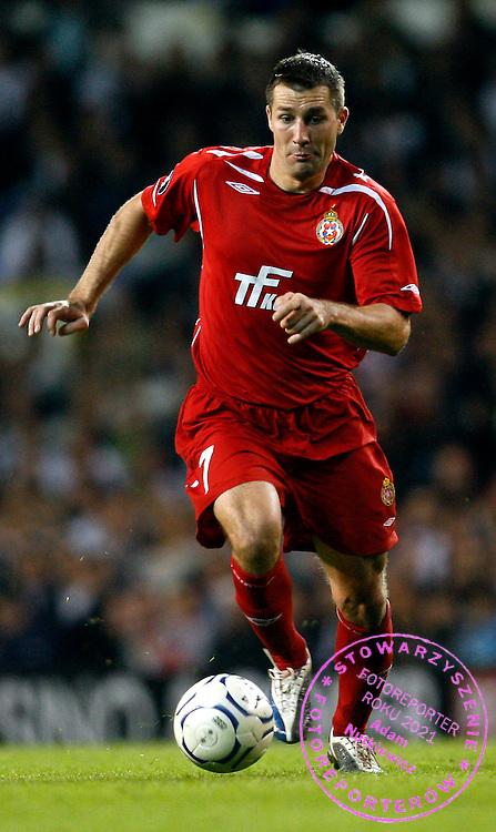LONDON 18/09/2008.UEFA CUP.QUALIFICATION ROUND.FIRST LEG.Tottenham Hotspur v Wisla Krakow.NA ZDJ. RADOSLAW SOBOLEWSKI /WISLA/.FOT. PIOTR HAWALEJ / WROFOTO