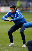 Queens Park Rangers midfielder Nasser El Khayati warming up before the Sky Bet Championship match between Queens Park Rangers and Ipswich Town at the Loftus Road Stadium, London, England on 6 February 2016. Photo by Andy Walter.