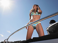 Smiling Woman on Boat
