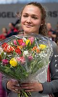 HAMBURG  (Ger) - Match 20,  for FINAL, LMHC Laren - Dinamo Elektrostal (Rus) (3-1).  Photo: best talent -21  award for Carlotta Sippel (Alster)    Eurohockey Indoor Club Cup 2019 Women . WORLDSPORTPICS COPYRIGHT  KOEN SUYK