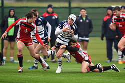 Iwan Hughes (SGS College) of Bristol Rugby Academy U18 - Mandatory by-line: Paul Knight/JMP - 11/02/2017 - RUGBY - SGS Wise Campus - Bristol, England - Bristol Academy v Gloucester Academy - Premiership Rugby Academy U18 League