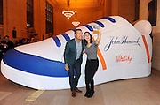 "Chris O'Donnell poses for a ""selfie"" at the John Hancock Vitality Village in New York, Wednesday, April 8, 2015, to celebrate the launch of John Hancock's whole new approach to life insurance that rewards consumers for healthy living. For more information, visit JHRewardsLife.com.  (Photo by Diane Bondareff/Invision for John Hancock Financial/AP Images)"