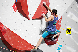 Nathan Phillips of Great Britain during Man's bouldering Final at the IFSC Climbing World Championships Innsbruck 2018, on September 15, 2018 in OlympiaWorld Innsbruck, Austria, Slovenia. Photo by Urban Urbanc / Sportida