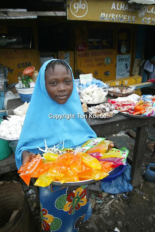 street vendor in lagos, Nigeria
