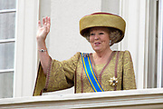 Prinsjesdag 2007 in The Hague. <br /> <br /> On the Photo: Queen Beatrix at the &quot;balcony Scene&quot;