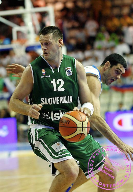 ALICANTE 03/09/2007.EUROBASKET 2007.BASKETBALL FIBA EURO CHAMPIONSHIPS.GROUP D.ITALY v SLOVENIA.GORAN JAGODNIK /SLO/.FOT. PIOTR HAWALEJ /WROFOTO