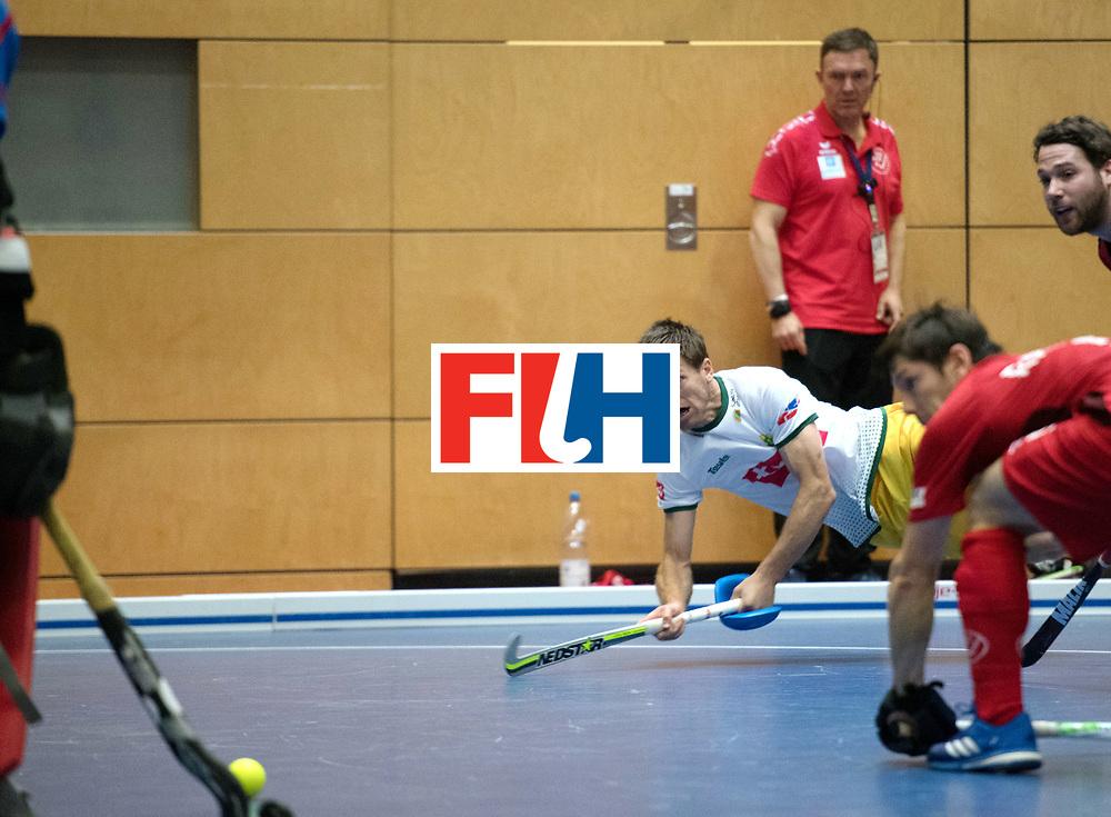 BERLIN - Indoor Hockey World Cup<br /> Switzerland - South Africa<br /> foto: DOMLEO Justin<br /> WORLDSPORTPICS COPYRIGHT FRANK UIJLENBROEK