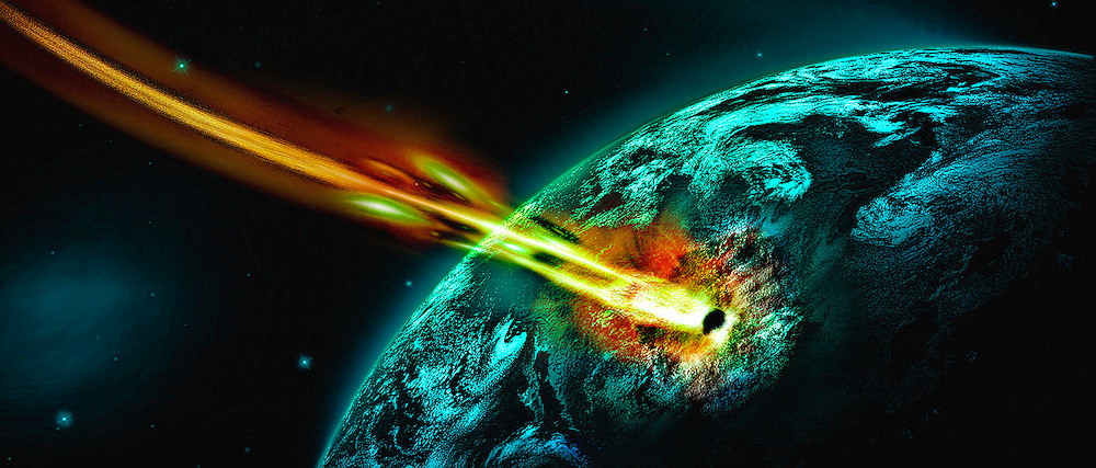 meteor hiting earth