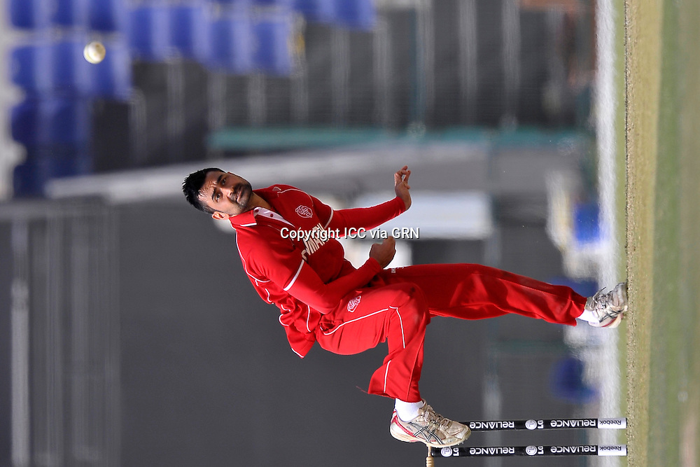 Denmark's Bobby Chawla at the ICC World Twenty20 Qualifier UAE 2012.. Pix ICC/Thusith Wijedoru