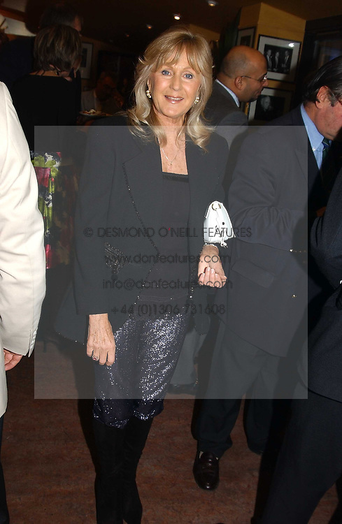 LIZ BREWER at a pre-screening party of a film by Fiona Sanderson entitled 'The Hunt For Lord Lucan' held at Langans, 254 Old Brompton Road, London SW7 on 8th November 2004.<br />