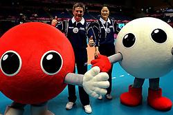 30-08-2013 VOLLEYBAL: WGP FINAL CHINA - USA: SAPPORO<br /> USA verliest ook van China in 3 sets / Referee Mr. Pedro Fabian Concia (ARG), Referee Ms. Joo-Hee Kang (KOR)<br /> ©2013-FotoHoogendoorn.nl