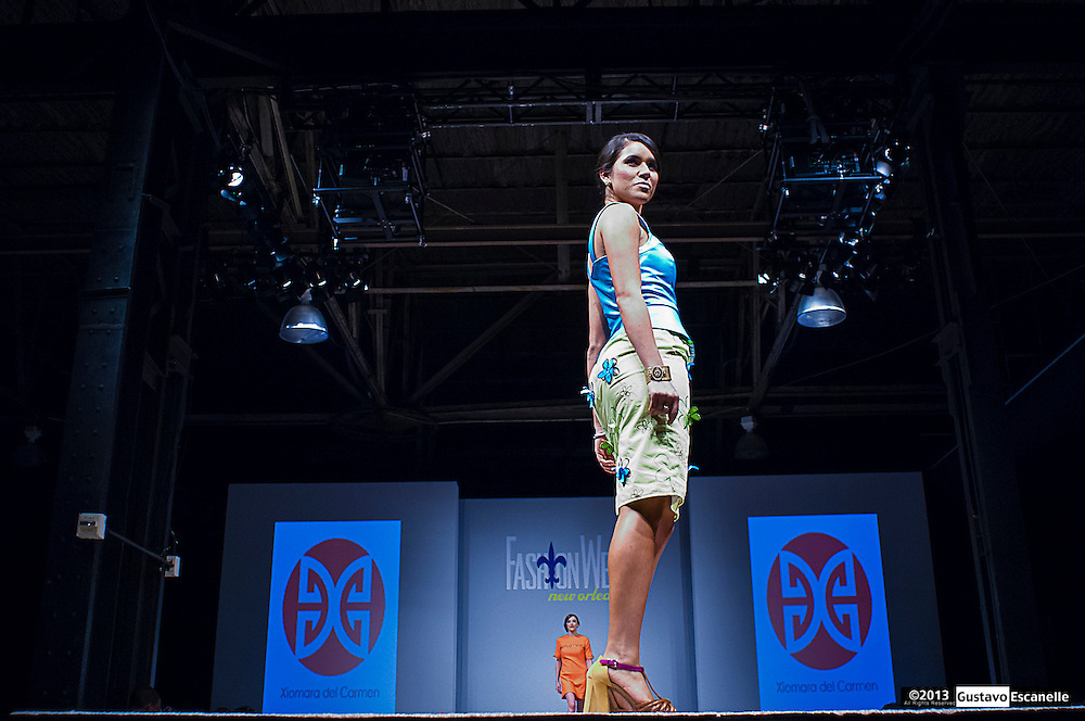 Xiomara Del Carmen showing their collection at Fashion Week New Orleans.